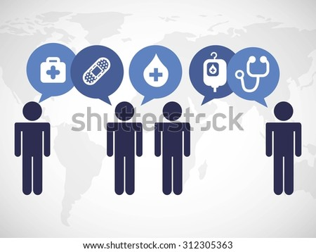 medical concept design, vector illustration eps10 graphic  - stock vector