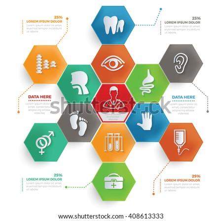 Medical concept info graphic design,vector - stock vector