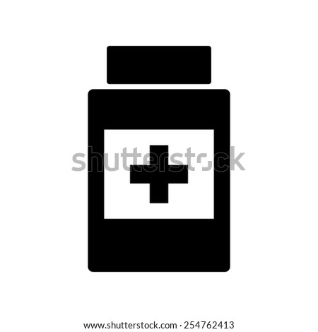 Medical container icon - stock vector