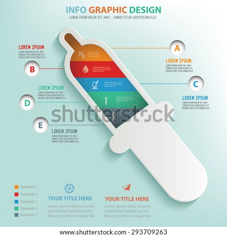 Medical design info graphic design,clean vector - stock vector