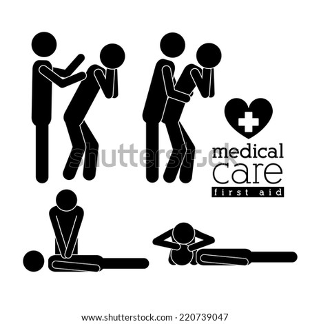 Medical design over white background, vector illustration - stock vector