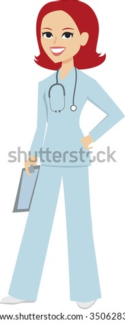 Medical doctor nurse vector - MOre on this collection - stock vector