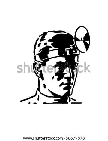Medical Doctor - Retro Clip Art - stock vector