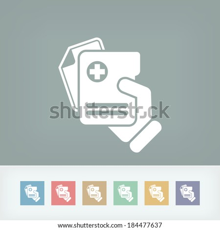 Medical document icon - stock vector