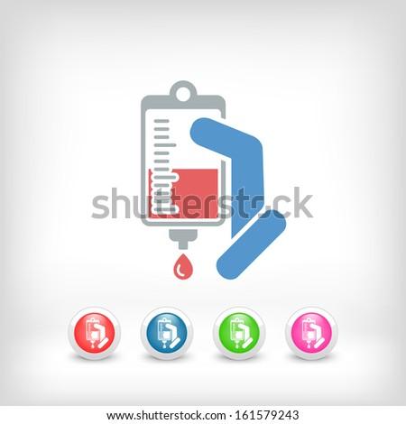 Medical drip bag - stock vector