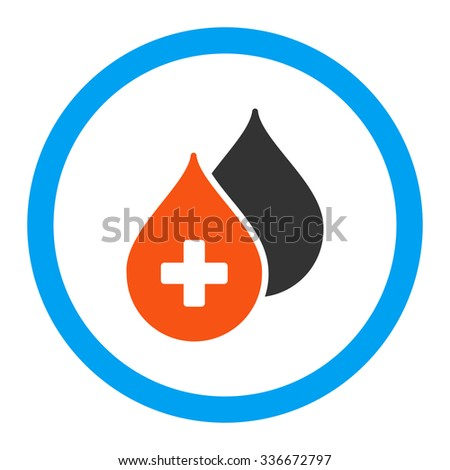 Medical Drops vector icon. Style is flat rounded symbol, bright colors, rounded angles, white background. - stock vector