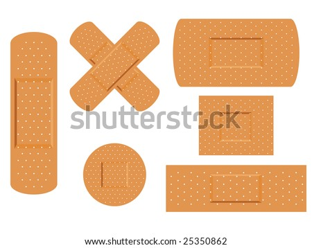 Medical first aid plaster - stock vector