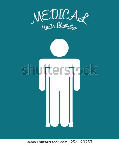 medical icon design, vector illustration eps10 graphic  - stock vector