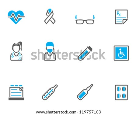 Medical icon series in duo tone color style - stock vector
