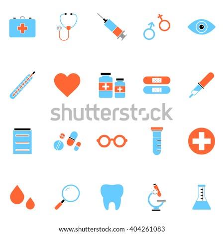Medical icons. Big set of medical icons. Big collection of medical icons. Big pack of medical icons. Flat medical icons. Vector medical icons. Web medical icons. App medical icons. Ui medical icons.  - stock vector