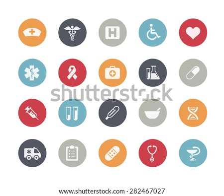 Medical Icons // Classics Series - stock vector