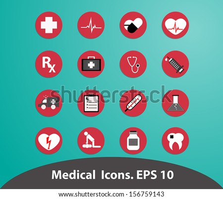 Medical icons.Illustrstion EPS 10 - stock vector