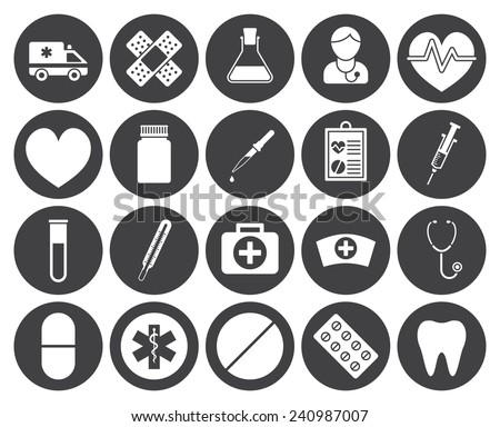 Medical icons (modern flat design) - stock vector