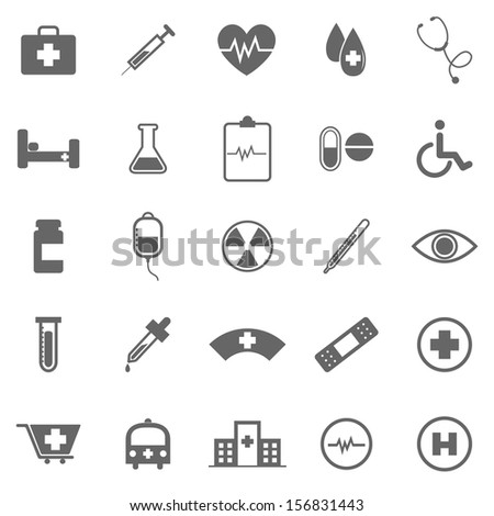 Medical icons on white background, stock vector - stock vector