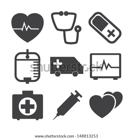 Medical Icons on white Background.Vector EPS 10 - stock vector