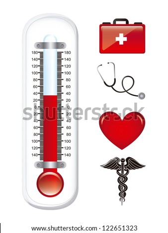 medical icons over white background. vector illustration - stock vector
