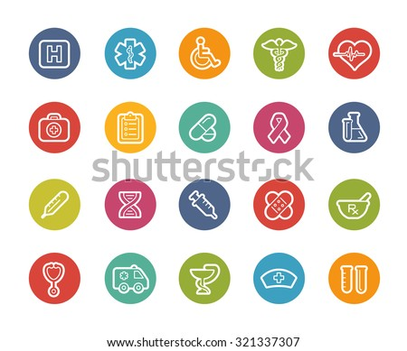 Medical Icons // Printemps Series - stock vector