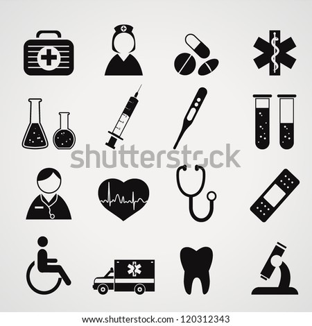 Medical icons set.Vector - stock vector