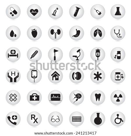 Medical icons set. vector illustration - stock vector