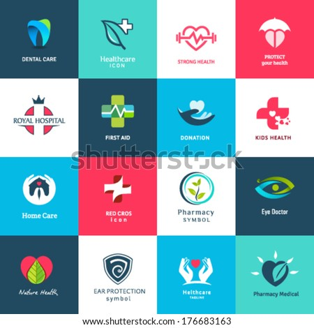 Medical icons & symbols set - stock vector