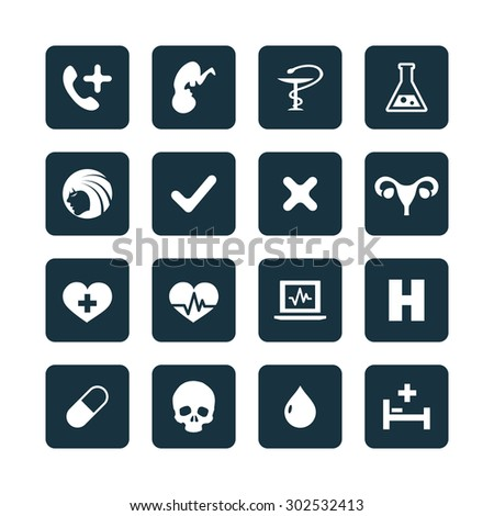 Medical icons universal set for web and mobile - stock vector