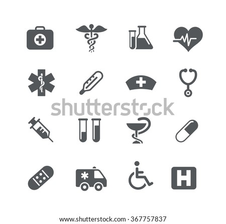 Medical Icons // Utility Series - stock vector