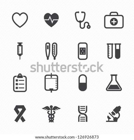 Medical Icons with White Background : NO.1 - stock vector