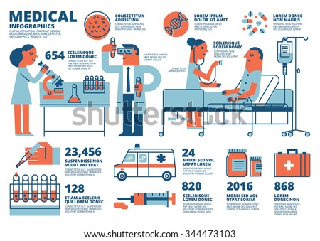 Medical Infographics - stock vector