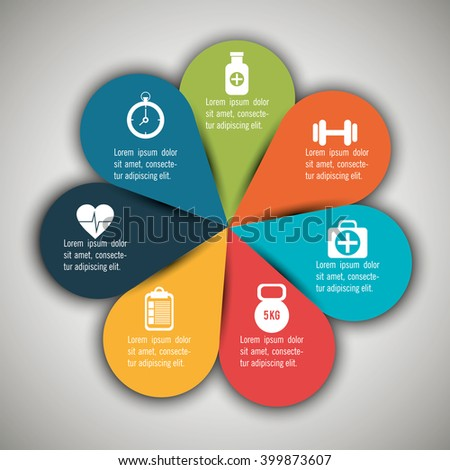 medical infographics design  - stock vector