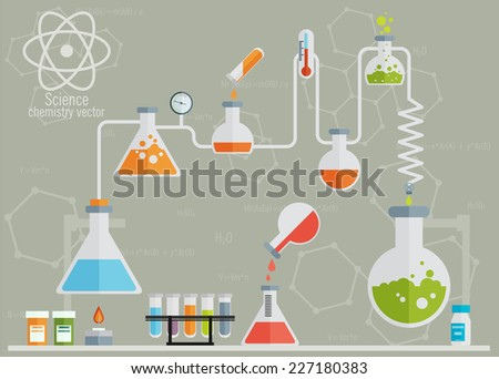 Medical laboratory infographics  - stock vector