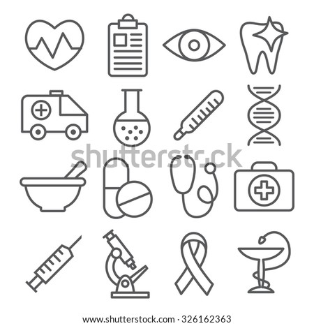 Medical Line Icons - stock vector