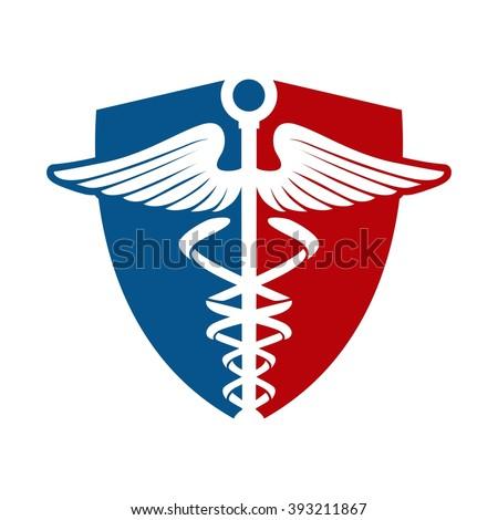 Medical Logo and Shield - stock vector