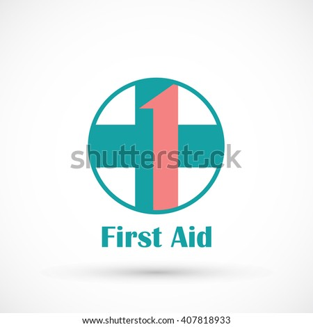 Medical logo first aid vector isolated on background - stock vector