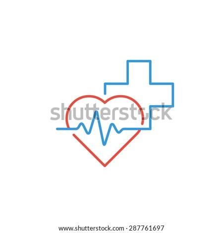 Medical logo. Pharmacy, drugstore, health care center, diagnostics services - stock vector