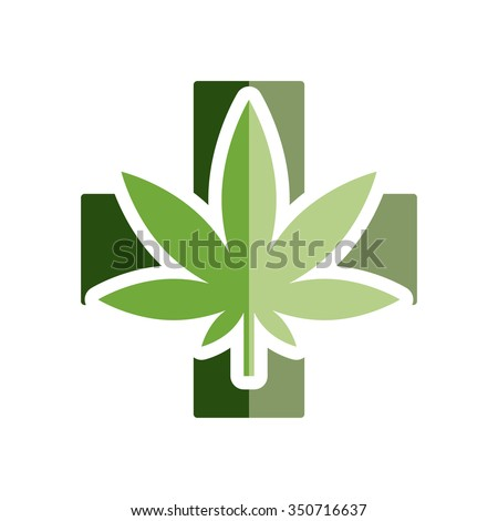 medical marijuana flat icon - stock vector