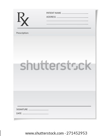 Medical prescription - stock vector