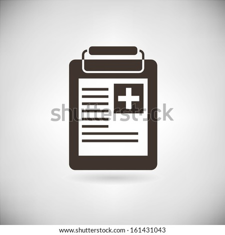medical report - stock vector