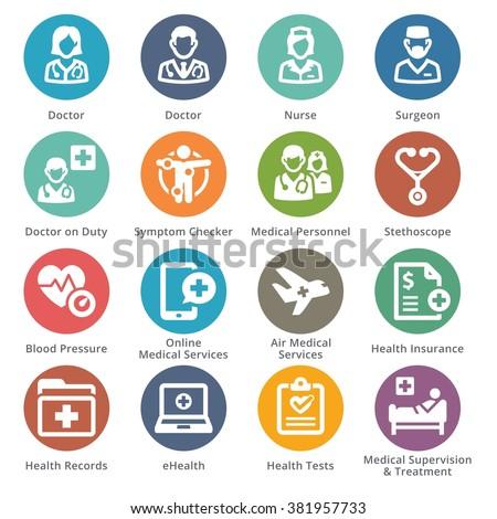 Medical Services Icons Set 2 - Sympa Series | Dots - stock vector