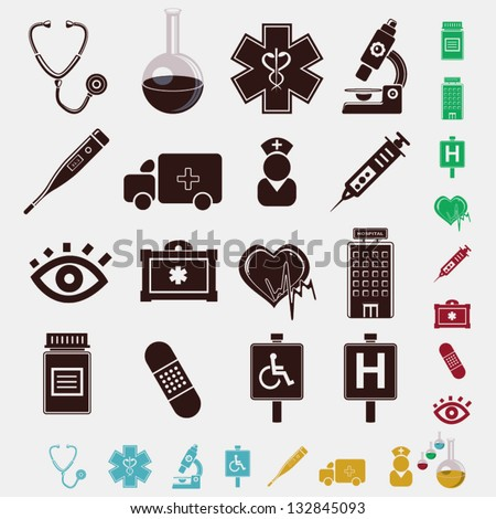 medical set of icons - stock vector