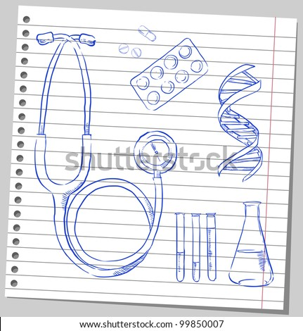 MEDICAL sketches - stock vector