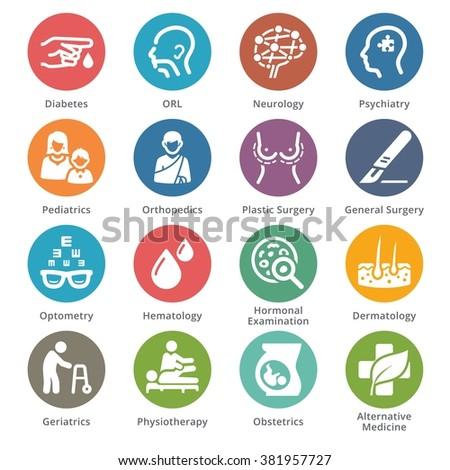 Medical Specialties Icons Set 2 - Sympa Series | Dots - stock vector