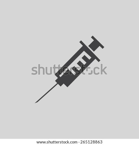 Medical syringe vector icon - stock vector