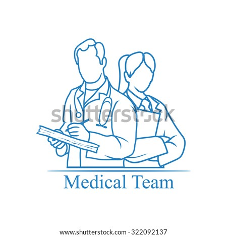 Medical team icon - stock vector