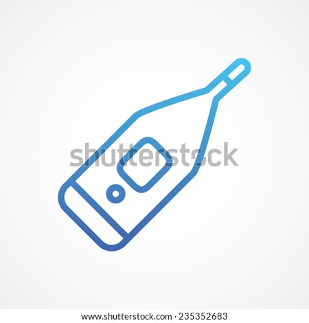 Medical thermometer icon for web, site, mobile, application. Vector illustration. Simple flat metro style - stock vector