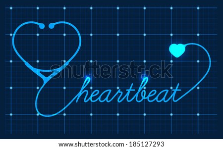 Medical Valentines symbol, vector - stock vector