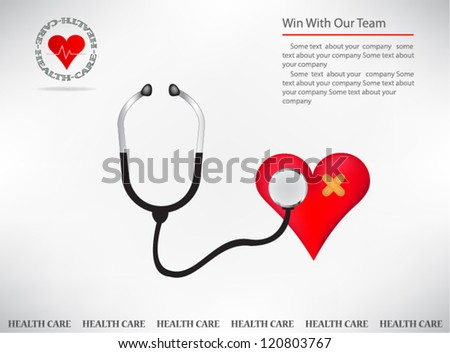 Medical visit card - stock vector