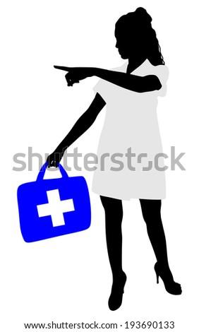 Medical woman doctor, vector  - stock vector