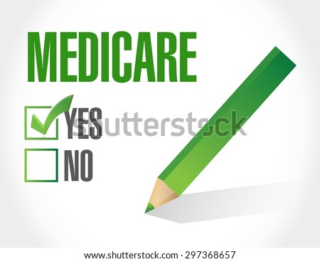 Medicare approve sign illustration design over white - stock vector