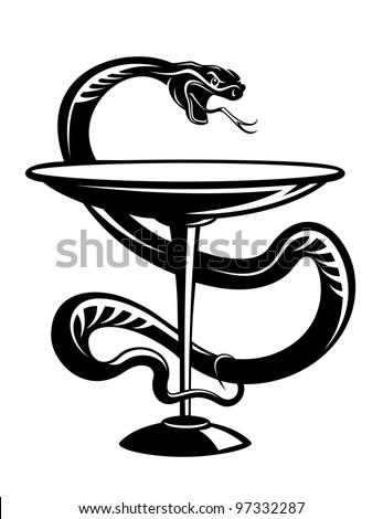 Pharmacy Logo Snake Red