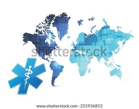 medicine around the world illustration design over a white background - stock vector